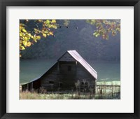 Framed #54 P Cades Cove Barn