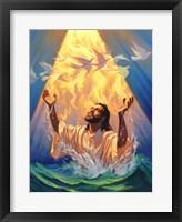 Framed Christian Baptism Of Jesus
