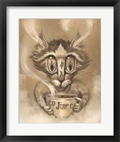 Framed Coffee Cat Go Juice
