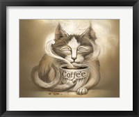Framed Coffee Cat