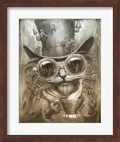 Framed Steampunk Cat