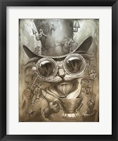 Framed Steampunk Cat