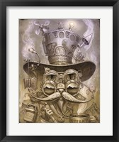 Framed Steampunk Cat 2