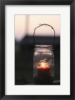 Framed Candle in a Mason Jar