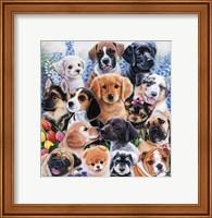Framed Puppy Collage