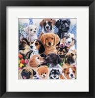 Framed Puppy Collage