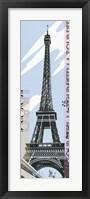 Framed Eiffel Tower 1889