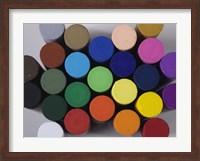 Framed Round Pastels