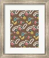 Framed Hawaiian Brown Pattern