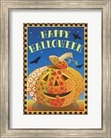 Framed Patchwork Pumpkin