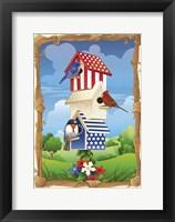 Framed Star Spangled Birdhouse