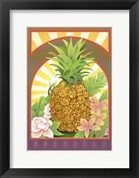 Framed Pineapple Flag