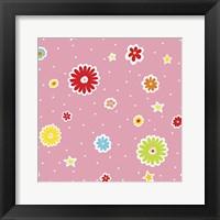 Framed Summer Flowers and Stars II