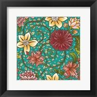 Framed Floral Swirl