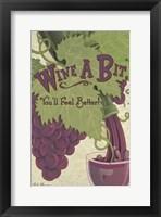 Framed Wine A Bit You'll Feel Better!