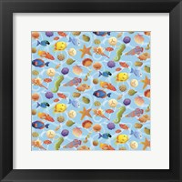 Framed Under The Sea - Half Drop Repeat