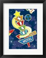 Framed Star Motel Flag