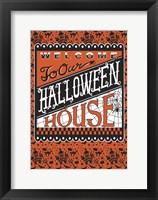 Framed Halloween House Flag