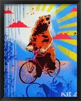 Framed Bear Back Rider