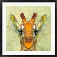 Framed Abstract Giraffe Calf