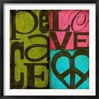 Framed Peace & Love