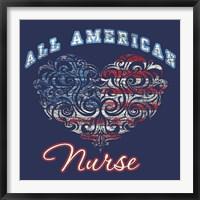 Framed All American Nurse