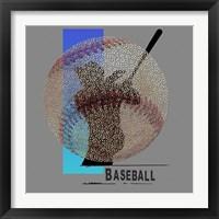 Framed Baseballl Player