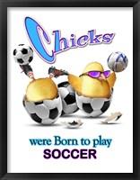 Framed Born Soccer
