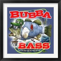 Framed Bubba Bass - Blue