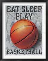 Framed Eat Sleep Play Basketball