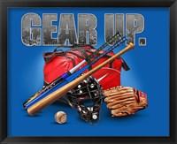 Framed Gear Up Baseball
