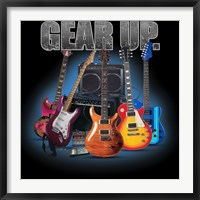 Framed Gear Up Guitars