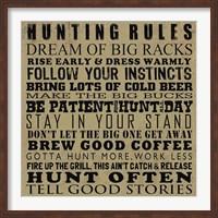 Framed Hunting Rules