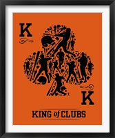 Framed King of Clubs