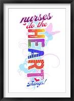 Framed Nurses Do the Heart Things
