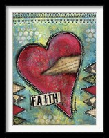 Framed Faith Heart