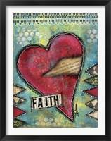 Framed Faith Heart