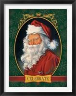 Framed Santa Celebrate