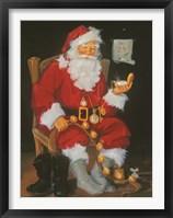 Framed Santa In Chair