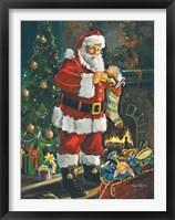Framed Sneaking Santa