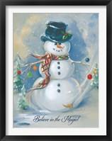 Framed Snowman Magic