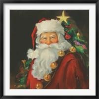 Framed Sparkling Santa