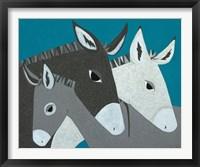 Framed Donkey Family