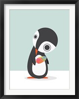 Framed Pingu Loves Ice Cream