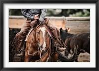 Framed Cutting Horse