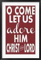 Framed Let Us Adore Him