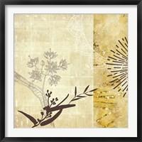 Framed Golden Henna Breeze 1