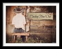 Framed Cowboy Time OUt