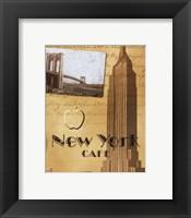 Framed New York Cafe