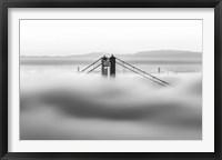 Framed Across the Bay BW